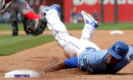 Alcides Escobar hit an RBI single in the ninth inning and the Kansas City Royals, boosted by a strong effort from starter Ian Kennedy, edged the Los Angeles Angels 1-0 Sunday for their fourth straight win. (AP)