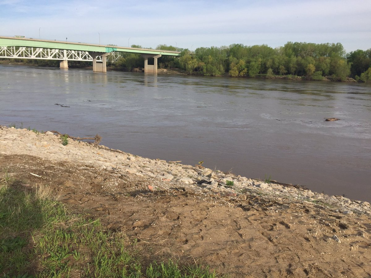 The Kansas City Fire Department will be focusing the search Monday morning on a specific area after their sonar equipment pinned a location of where the car may be before they suspended the search Sunday night. (Jessica Reyes/KCTV5 News)