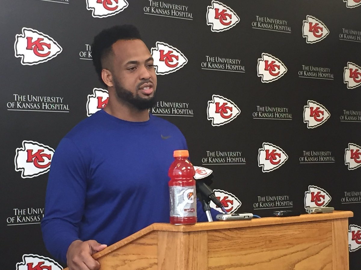 Chiefs linebacker Derrick Johnson expects to be back by training camp after tearing his Achilles tendon late last year and missing the end of the regular season and playoffs. (Dani Welniak/KCTV5 News)