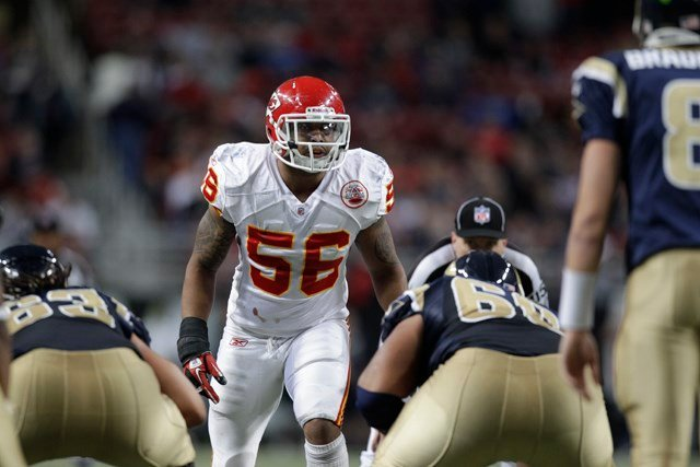 Johnson is a 12-year veteran for the Chiefs, and is franchise's all-time leading tackler, 1,080 to date. (AP)