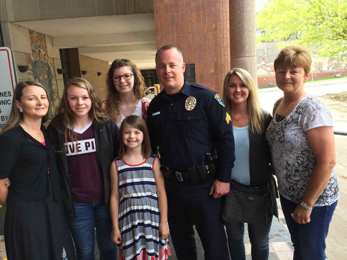 Officer Jacob Baldwin and his family told a judge how that shooting affected them and really their entire family, including Baldwin's young daughter. (Angie Ricono/KCTV5 News)