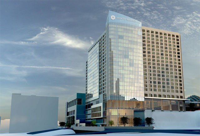 The city council gave final approval Thursday to build a Hyatt Regency Convention Hotel near 16th and Wyandotte streets. (File)