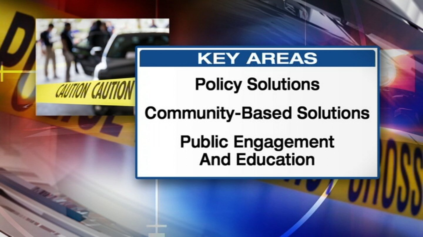 Taskforce members presented three key areas of recommendations to Mayor Sly James. (KCTV)