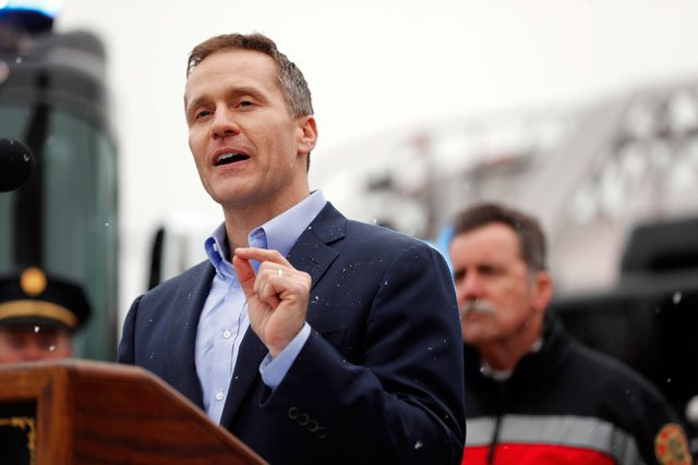 Gov. Eric Greitens' nonprofit is running digital ads attacking a fellow Republican who's slammed the governor's use of campaign donations that are routed through nonprofits to conceal the money's source. (AP)