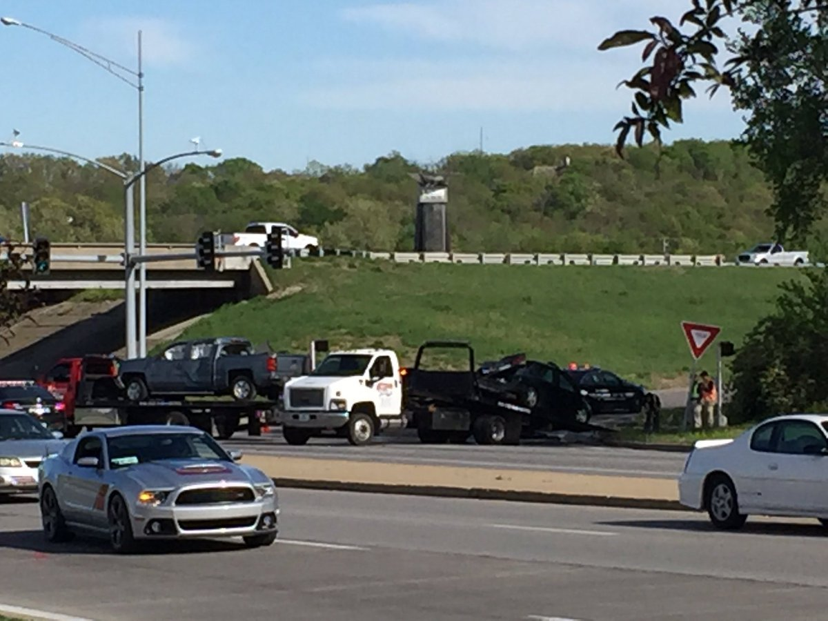 One person was killed in a crash in Independence after a truck left the interstate. (Dwain Crispell/KCTV)