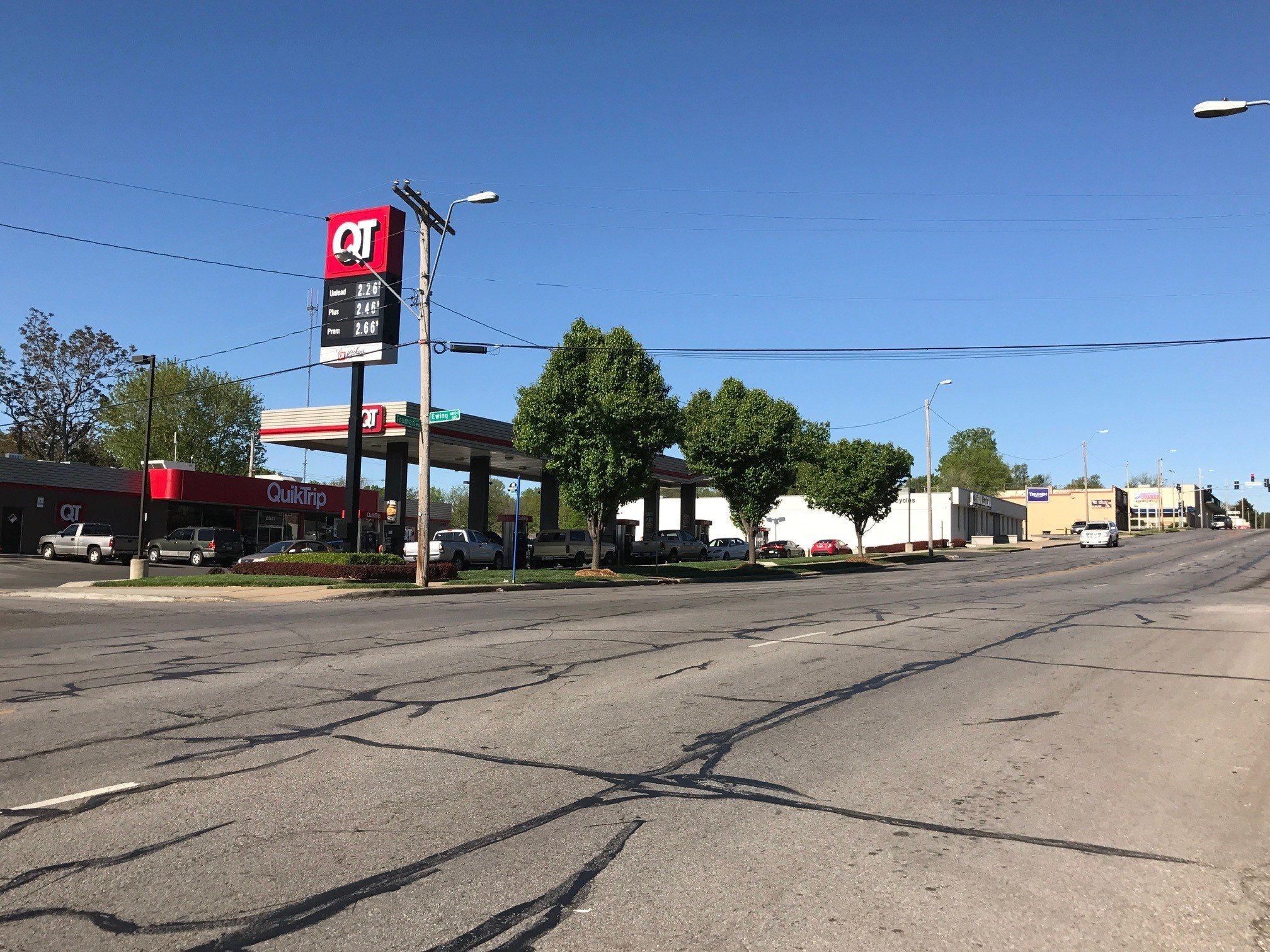 The area where the shooting happened. (Eric Smith/KCTV)