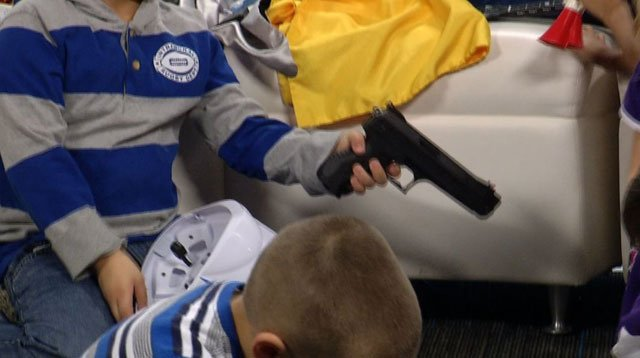 KCTV5 won in the Hard News category for 'The Gun Experiment' after teaming up with the Fairway Police Department to show parents just how quickly things can take a turn when a child finds a gun. (KCTV5)