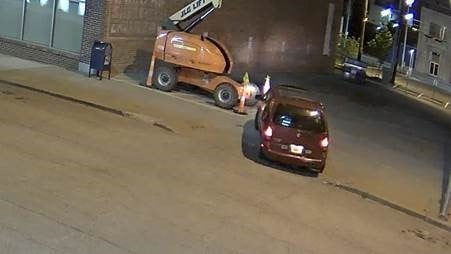 Police say there appear to be four people arriving in a red/burgundy Nissan Quest at one of the locations about3:30 a.m. The minivan appears to be a 1996-1998 model. (CrimeStoppers)