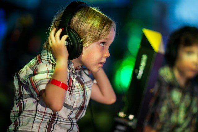These new headphones set the volume at a safe level for kids. (AP)
