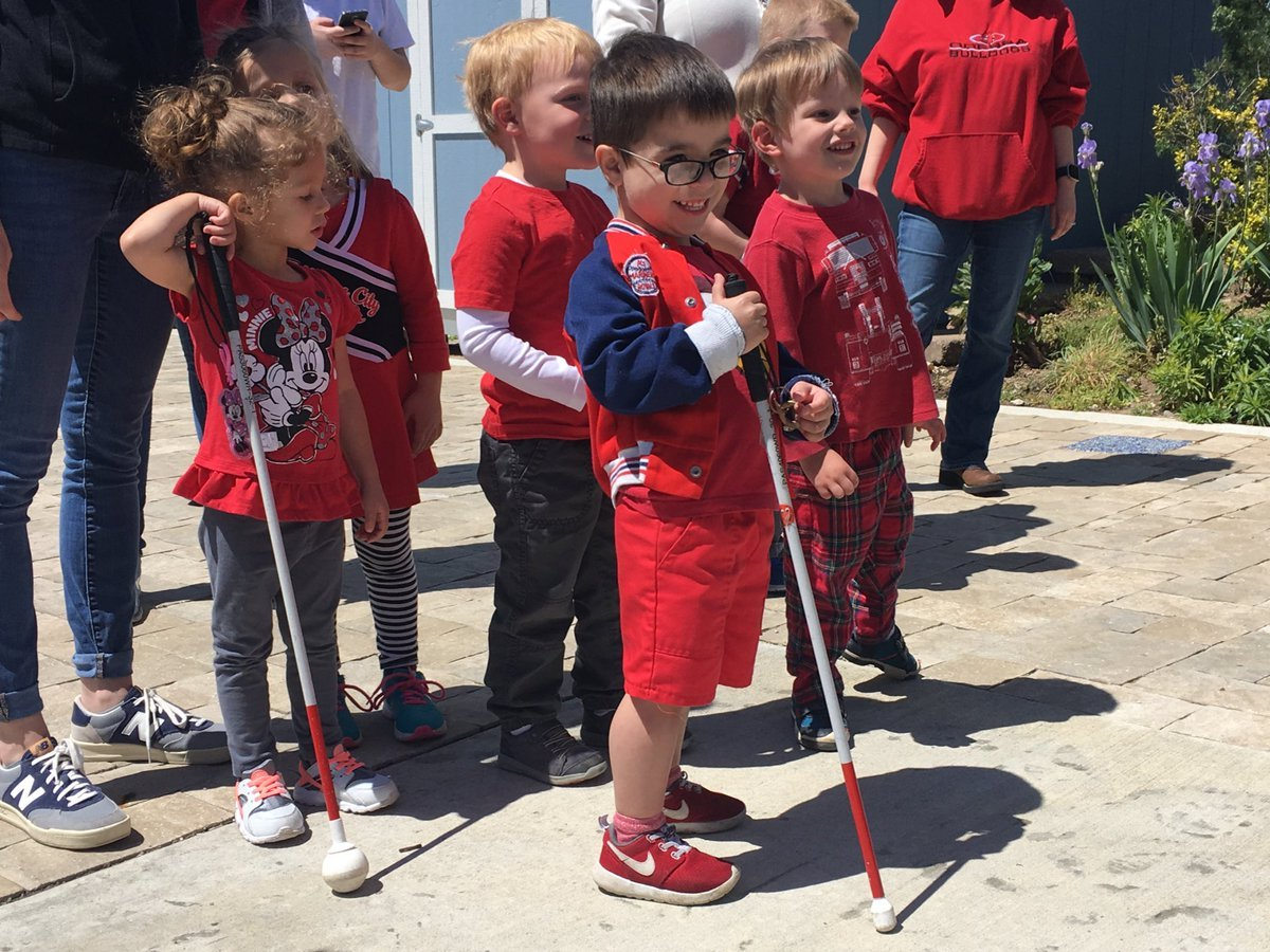 The students of the Children's Center for Visually Impaired are gearing up for this weekend's Trolley Run with a field day. (Abigael Jaymes/KCTV5 News)