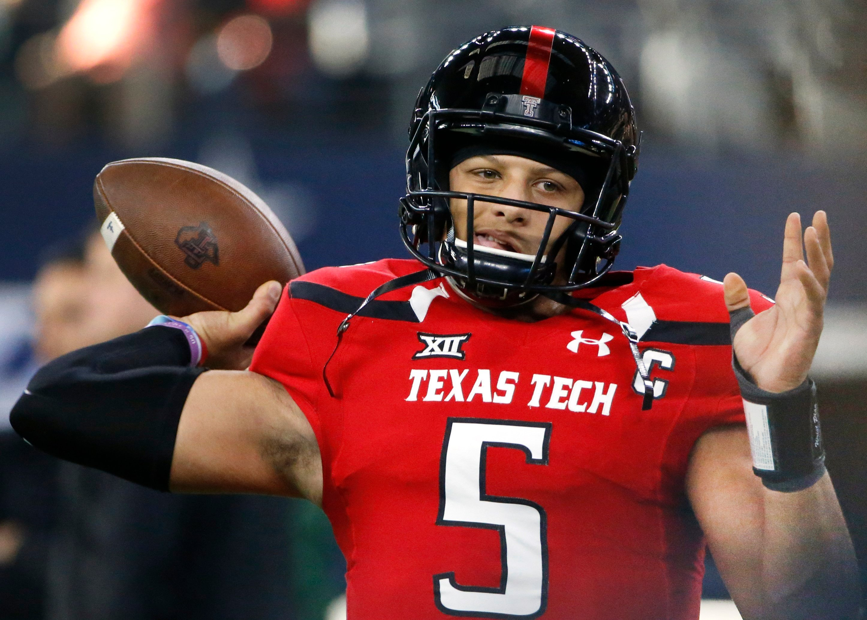 The Kansas City Chiefs traded their first- and third-round picks this year and their first-round pick next year to the Buffalo Bills to grab Texas Tech quarterback Patrick Mahomes with the 10th overall selection. (AP)