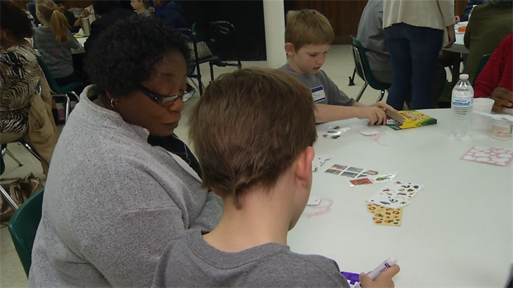 The grandparents have been working with St. Agnes students for about 20 years. (KCTV)