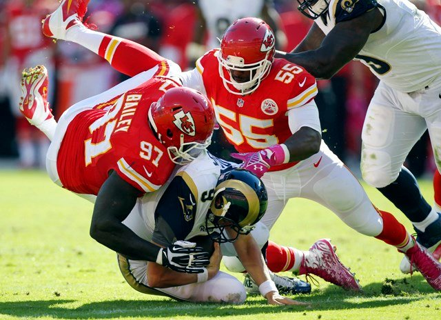 During the 2016 season, Ford played 15 games, recording 38 tackles, 10 sacks and forcing a fumble. (KCTV5)