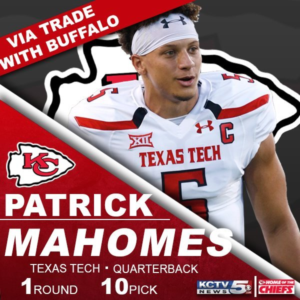 Patrick Mahomes himself may have the smallest on-field impact of anyone in this draft class, as in the Chiefs' perfect world, the unpolished rookie never takes a regular season snap. (KCTV5)