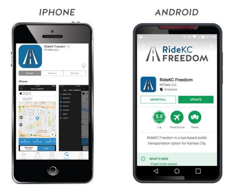 Anyone can use the RideKC Freedom On-Demand app, but the city also wanted to make sure it would be helpful for the more than 300,000 people with disabilities who use Kansas City's special transit services. (RideKC)