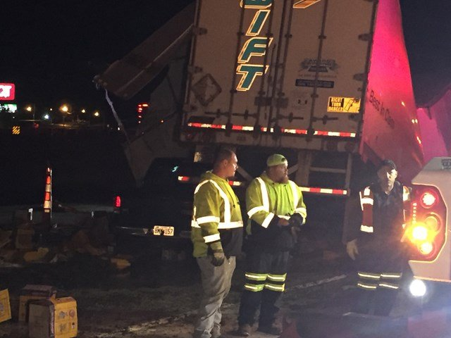 The ramp is not expected to reopen until after 7 a.m. on Thursday.(KCTV5)