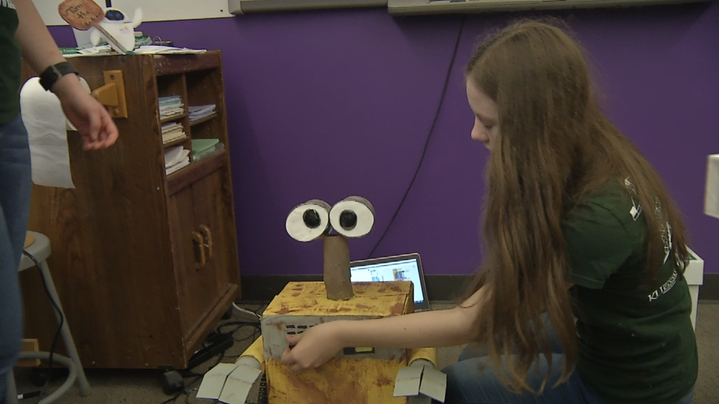 The students have spent the last five months designing, coding and making robots. (KCTV)