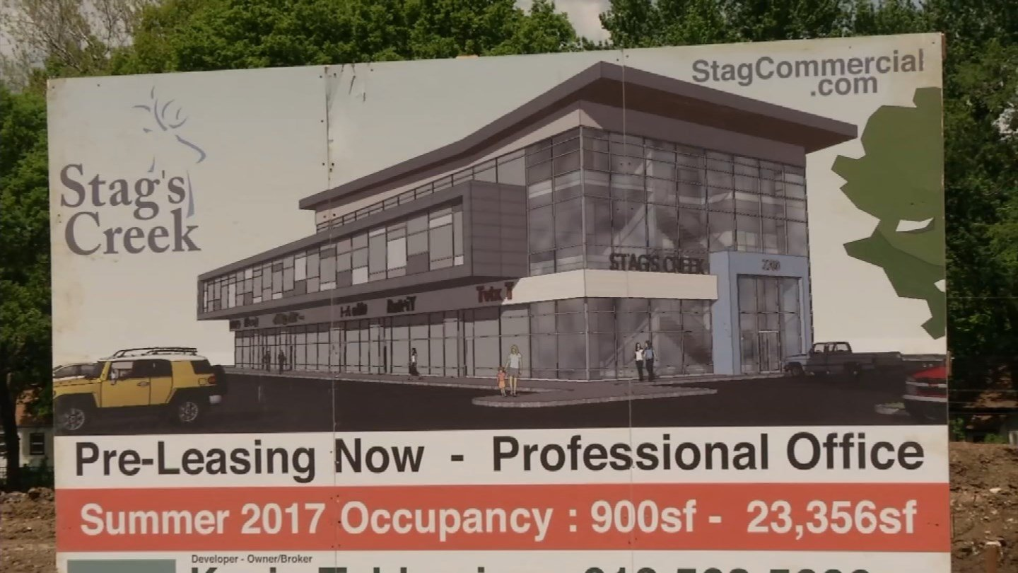 Construction is underway for a new $7.5 million office project in Shawnee.  (KCTV5)