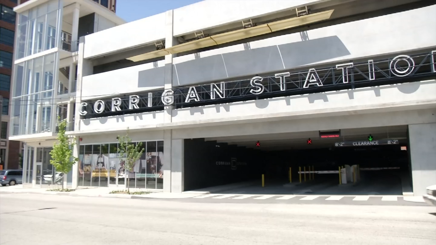 The new parking garage called the Corrigan Station. (KCTV)