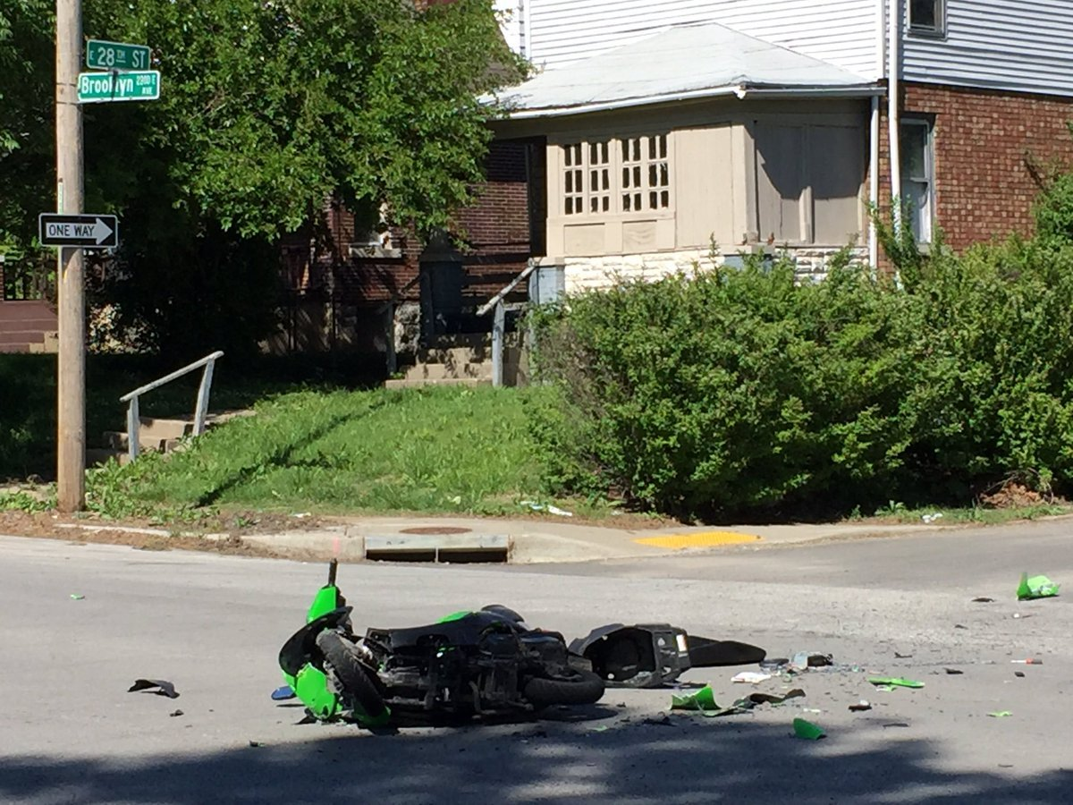 A closer look at the moped. (KCTV)