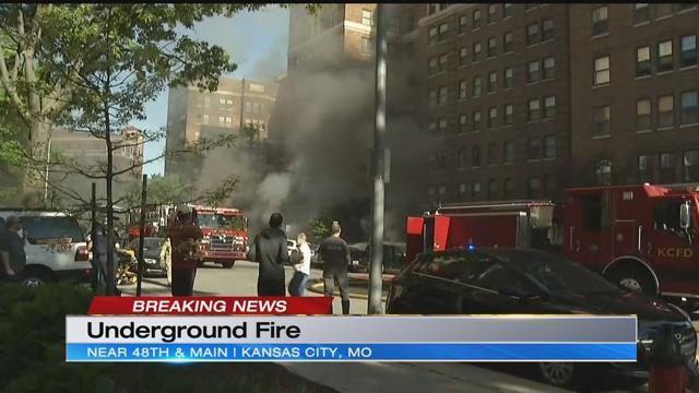 Kansas City Plaza Sidewalk Fire
