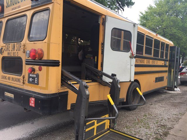 Authorities say the bus was used to transport disabled students. (KCTV5)