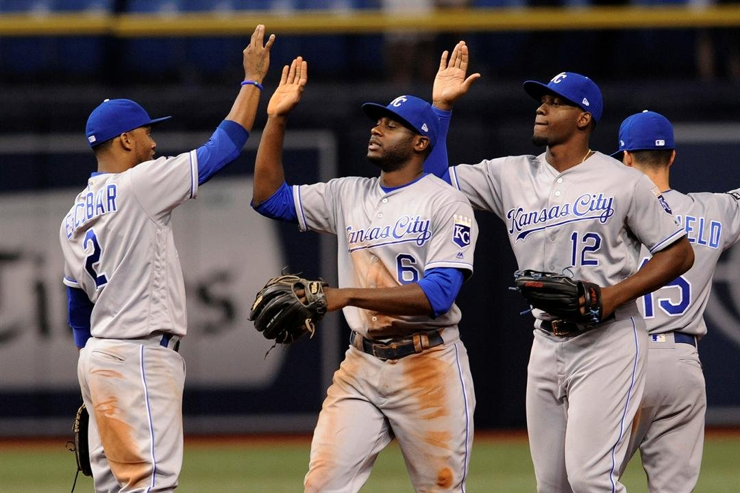 Kansas City matched its best run output of the year and set a season high with 13 hits. (AP Image)