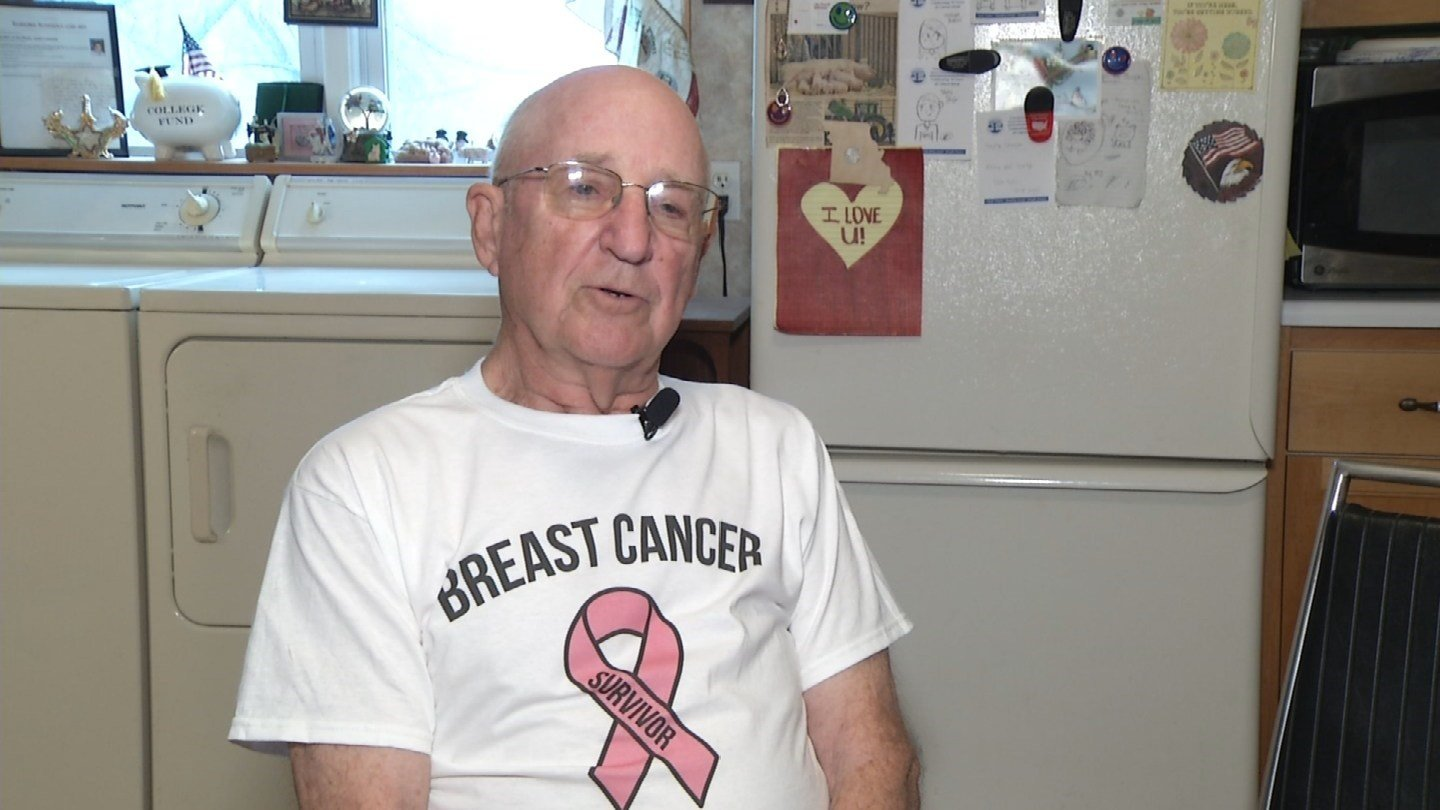 Kirby Anders is upset about his bill because the government paid for his wife's, even though Anders is the one who survived breast cancer. (KCTV5)