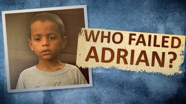The files show a little boy reaching out for help, telling strangers he was locked in rooms and beaten.
