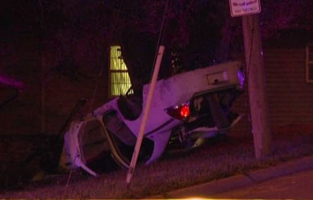 Four people were hurt following a rollover wreck. (KCTV5)