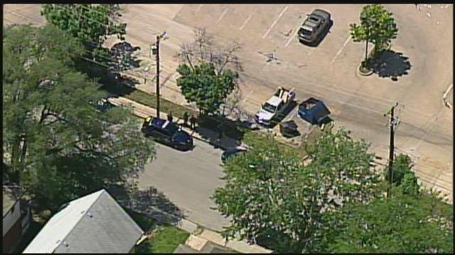 Chopper5's view of the scene where the incident happened. (KCTV)