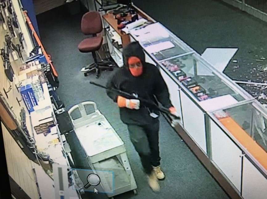 Picture of surveillance video of one of the suspects. (KCTV)