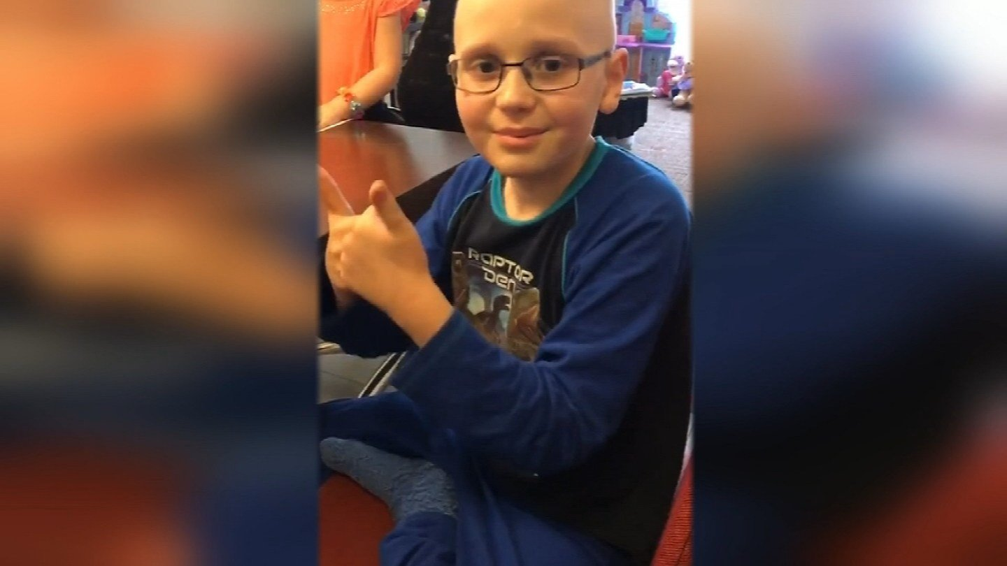 Alex has been in Kansas City for months. The 9-year-old is being treated at the University of Kansas Hospital and Children's Mercy Hospital for Ewing sarcoma. (Submitted)