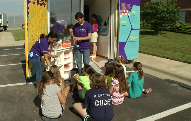 At the lab, children learned about DNA, how to look at things under microscopes and how to use a 3D printer. (KCTV5)