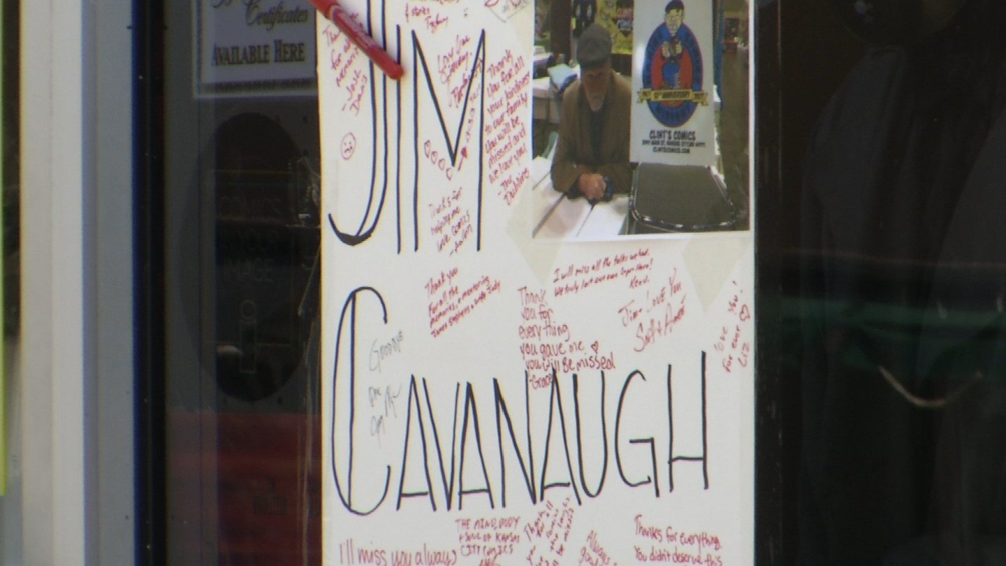 It's was a bittersweet day at Clint's Comic Books on Tuesday as workers and dear friends helped reopen the store for the first time since they lost Jim Cavanaugh. (KCTV5)