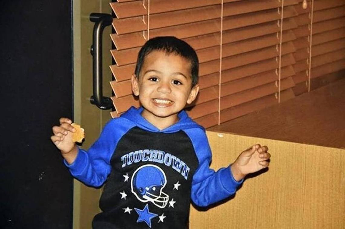 The father and stepmother of Adrian Jones claimed to beschoolinghim in theirKansasCity,KS home; they have been sentenced to life in prison for his death, and authorities say they abused and starved theboy. (File)
