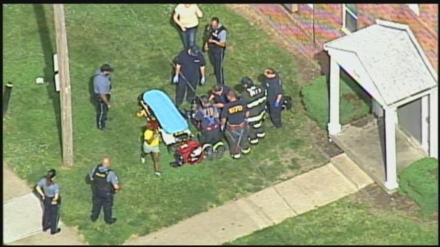 Police were called about 9:25 a.m. to the 5300 block of East 12th Street. (Chopper5)