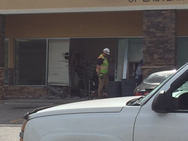 A vehicle crashed into the Family Care Center of Eastern Jackson County.(KCTV5)