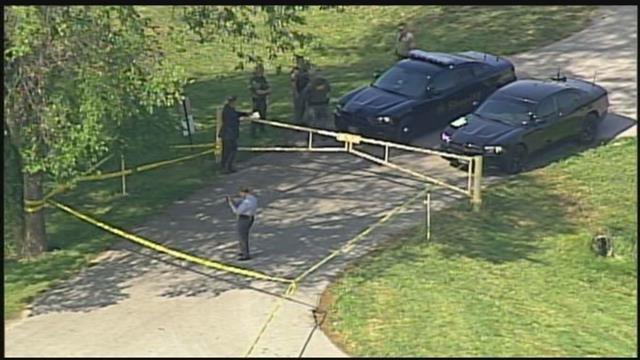 The shooting happened about 9 a.m. near Little Blue Parkway and RD Mize Road. (Chopper5)