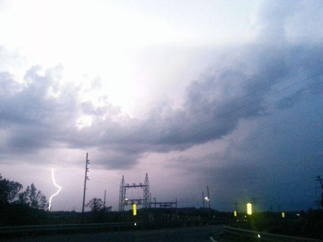 Lightning in Leavenworth County. (Debbie Ludwig)