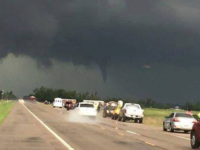 The National Weather Service says the storm began producing tornadoes late Thursday afternoon. (Submitted)