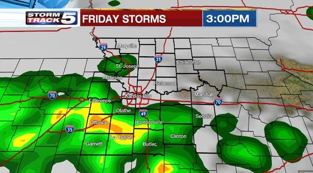 The amount of sunshine will be the deciding factor for the severity of the storms. (KCTV5)
