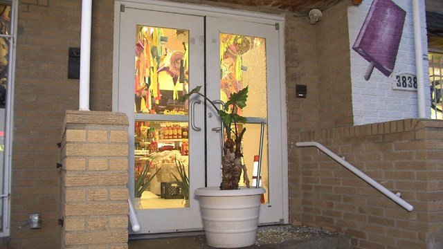 When employees went to investigate the noise, they found a shattered window and saw a dark figure leaving with and holding the cash register drawer. (KCTV5)