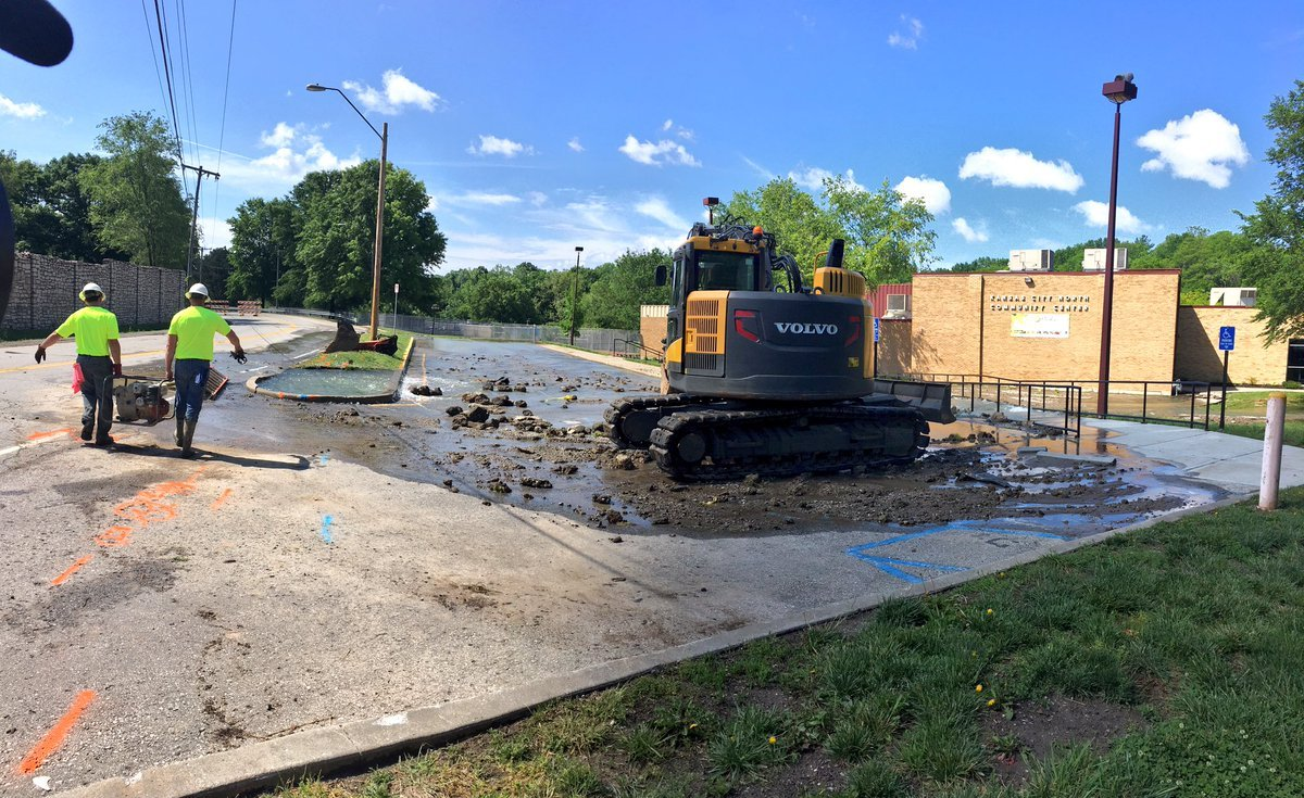 After a 20-inch long water main break affected the center had to close its doors temporarily. The center is located at 3930 NE Antioch Rd. (Abigael Jaymes/KCTV5 News)