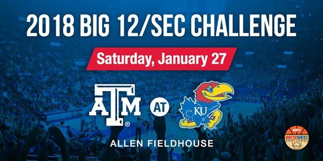 Kentucky will travel to West Virginia and Kansas will host Texas A&M in the Big 12/SEC Challenge. (Kansas Basketball?/Twitter)