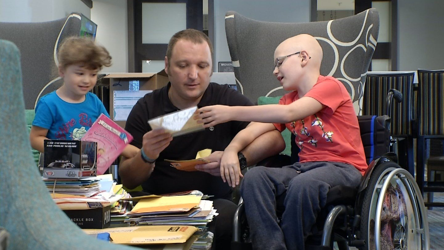 Thursday was a special day for a little boy from the United Kingdom receiving cancer treatments in Kansas City. (KCTV5)