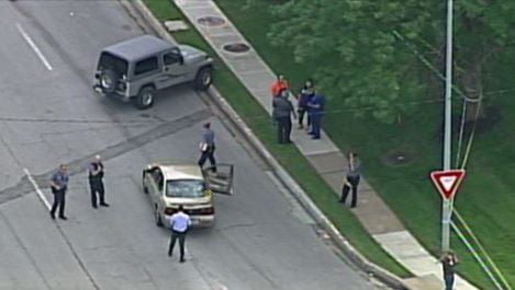Chopper 5 video of the crime scene. (KCTV5)