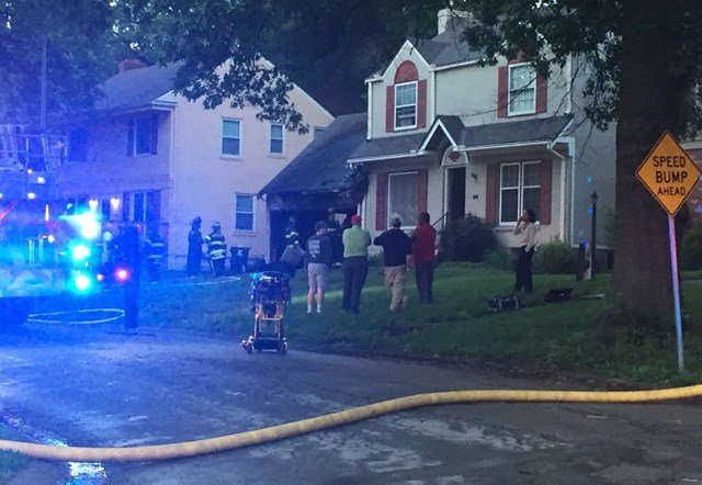 Two adults, their daughter and their two pets escaped the house without injuries. (KCTV5)