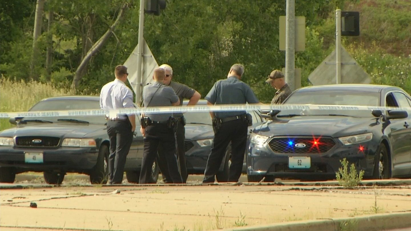 Police are still looking for the person who fired a gun at a passing car in a busy intersection on HolmesRoad near I-435 Thursday afternoon. (KCTV5)
