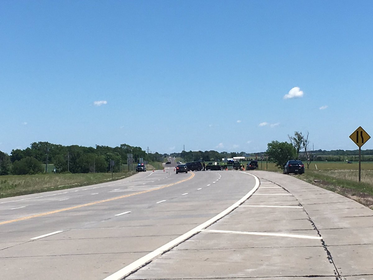 The scene of the crash on 175th Street just east of Gardner and Interstate 35. (Ashley Arnold/KCTV)